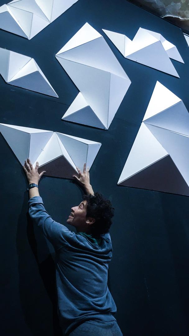 Visuales nidra estructura 3D volumetrica santiago chile videomapping