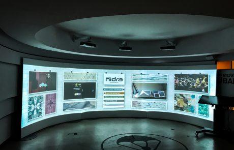 Showroom El Paracaidista video mapping vjing Madrid