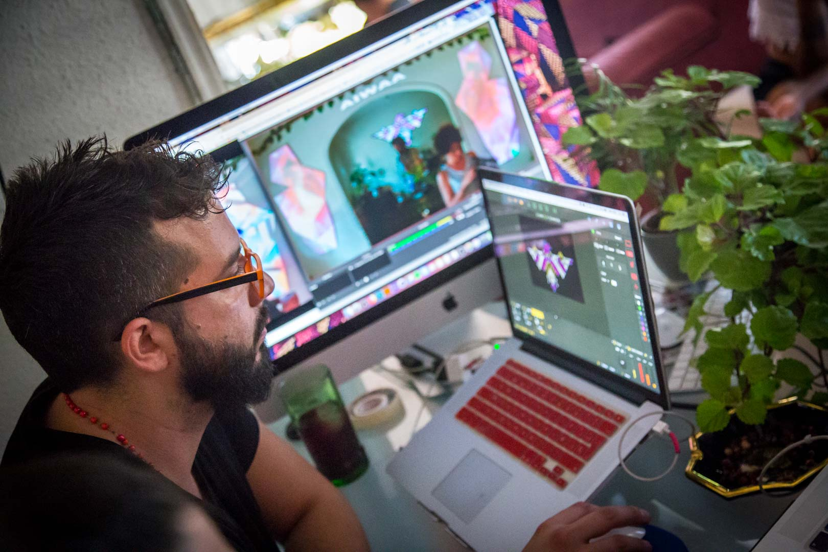 Ari Agliati Icaro session Visuales Nidra Video Mapping