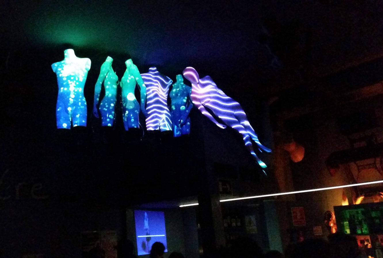 Video Mapping Maniquíes Freezer Club Dsastre Málaga Visuales Nidra
