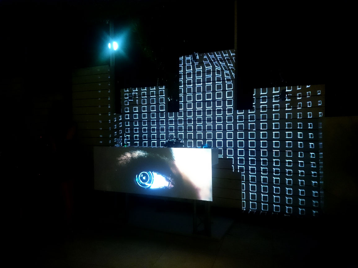 Video Mapping DJ set Atzaro Beach Club Ibiza Visuales Nidra