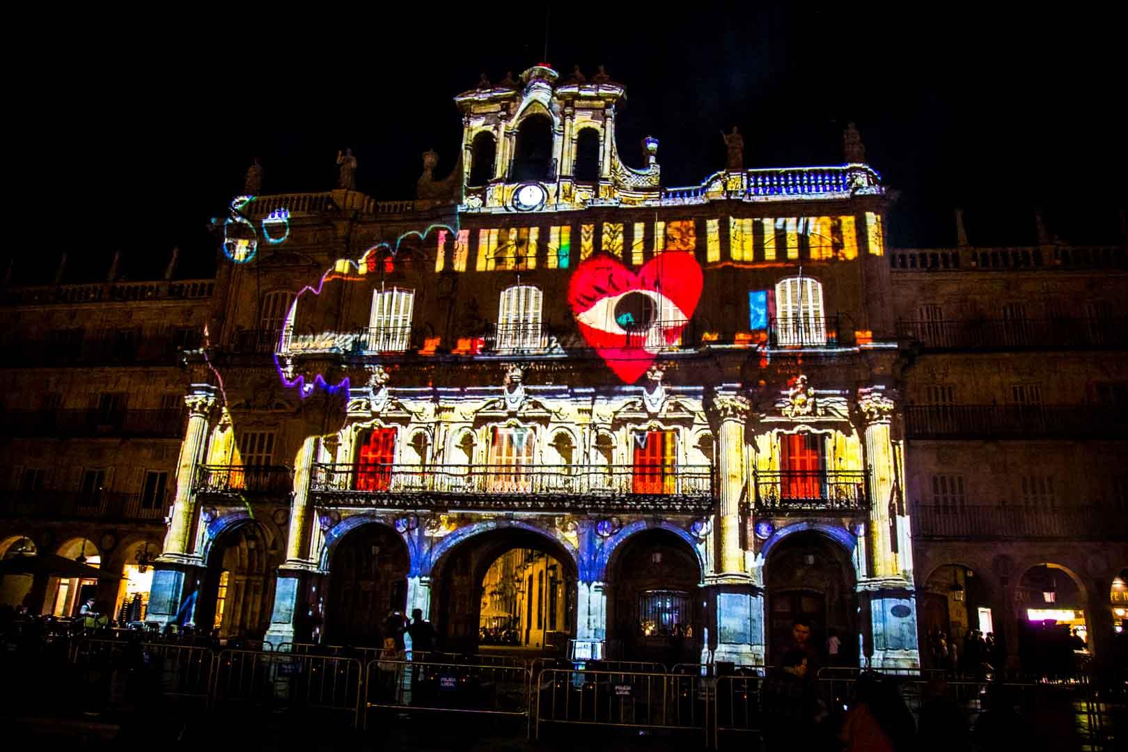 Visuales Nidra Festival Luz y Vanguardias Salamanca 2019 España Video Mapping