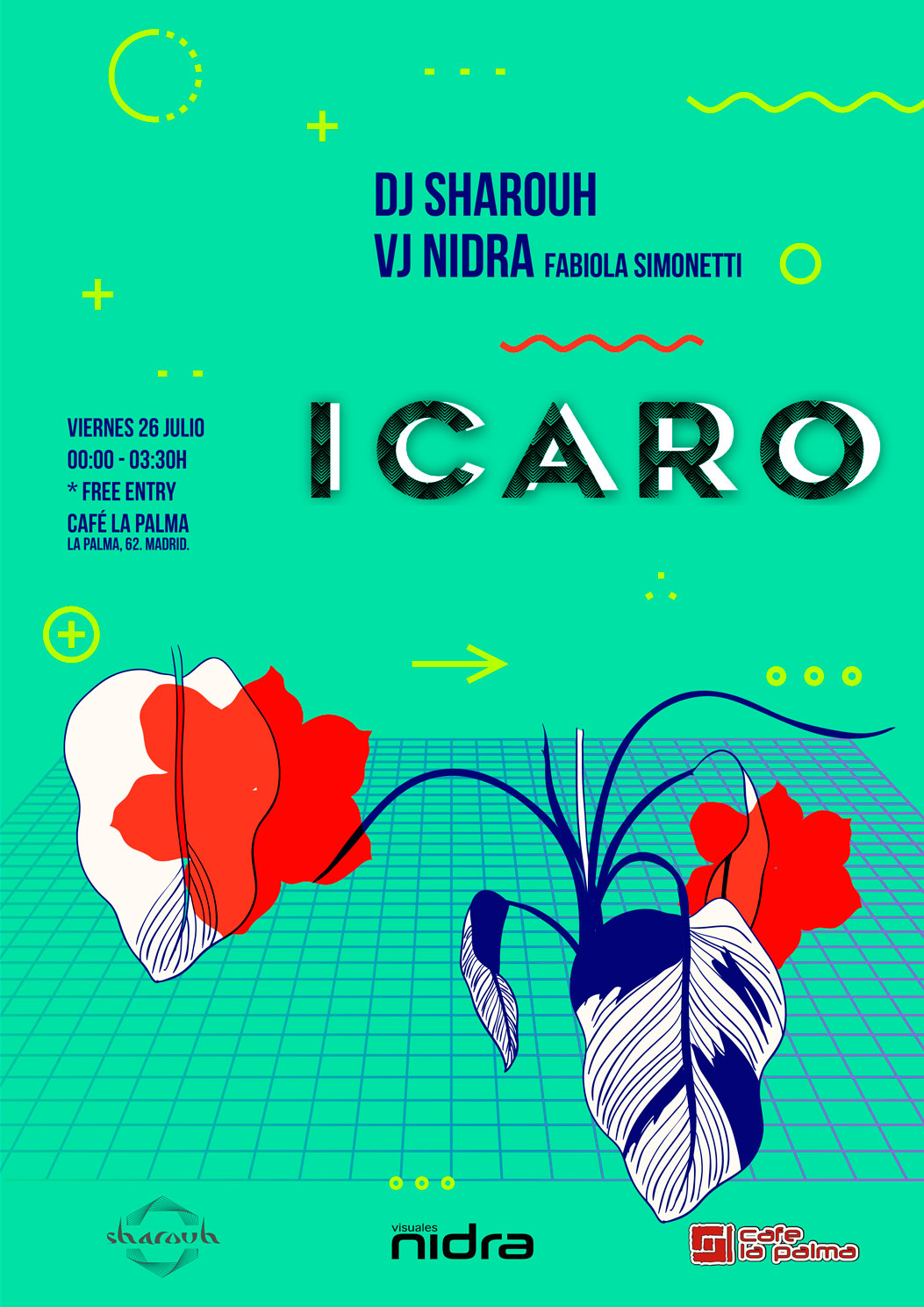 Icaro Visuales Nidra Club La Palma Madrid Sharouh