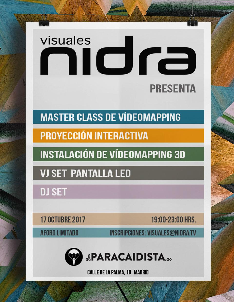 Showroom El Paracaidista Madrid Visuales Nidra VideoMapping