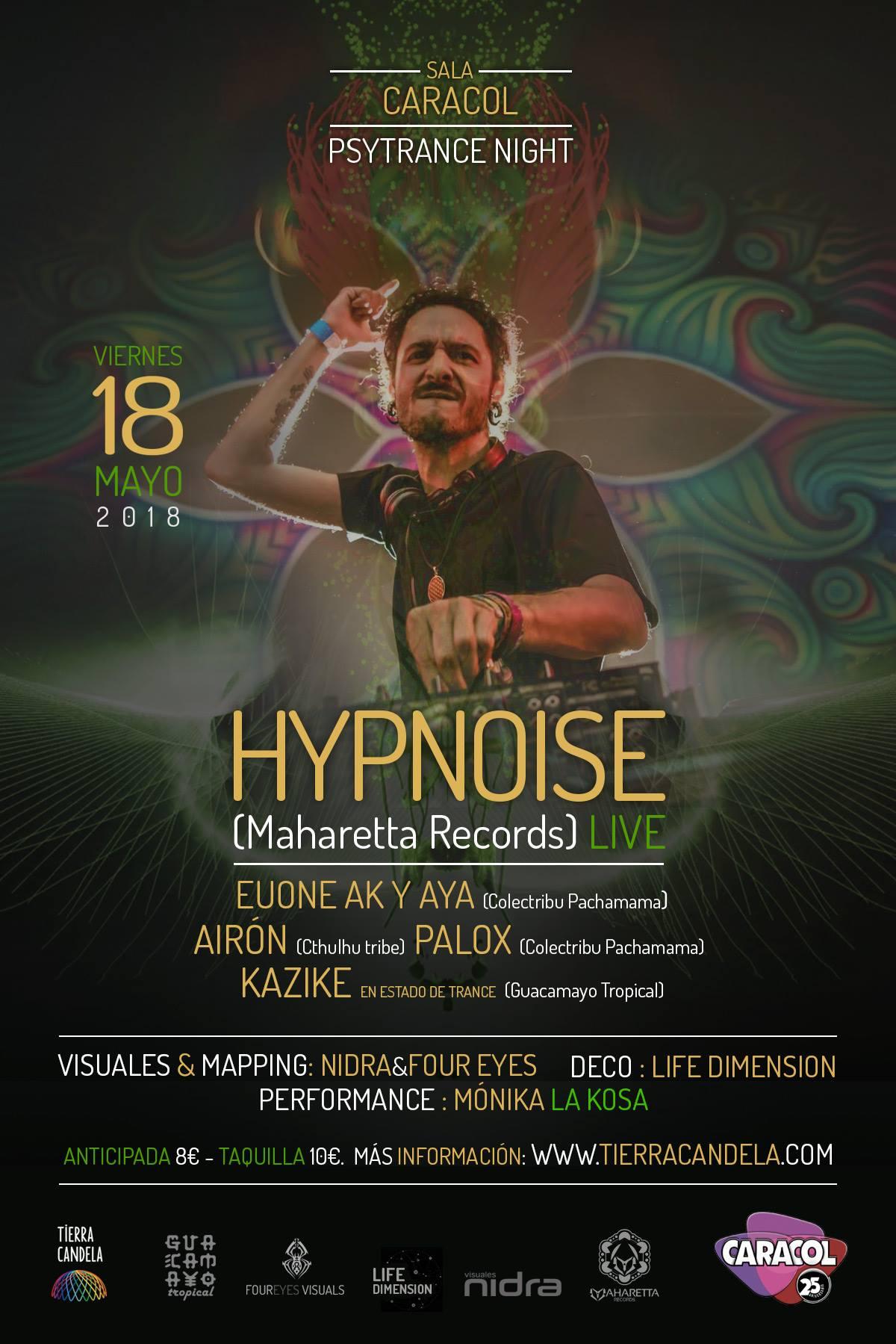 hypnoise sala caracol 18 de mayo madrid